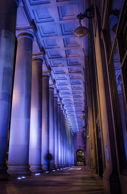 Line of pillars CC Chris Smith