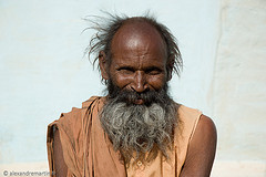 Inde, Madhya Pradesh, Orchha, vieil homme barbu // India, Madhya Pradesh, Orchha, old man with a beard